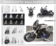 Дизайн ветрового стекла на мотоцикл