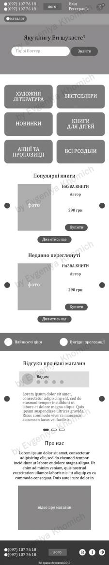 """Прототип книжного магазина """"Papyrus"""" на Android"""