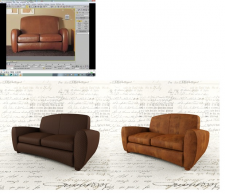 Высокополигональное моделирование дивана