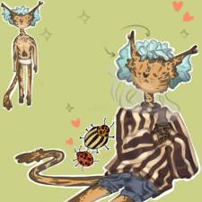 Дизайн персонажа:  Милый антропоморфный котик