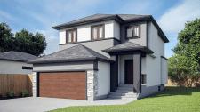 3d визуализация дома в Канаде.