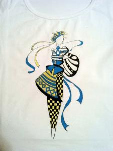 """Рисунок на футболке """"Украиночка"""""""