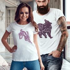 Серія стилізованих зображень диких звірів