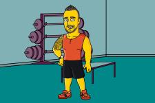 Сімпсон-тренер у спортзалі