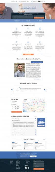 Сайт врача-хиропрактика в США