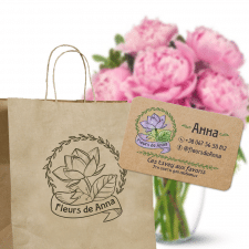 Логотип для магазина флориста упаковка