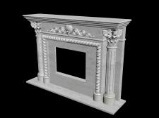 Трехмерная модель каминного портала