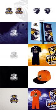 Разработка логотипа для Prague Tigers