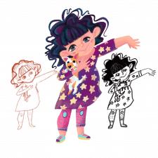 Персонаж дівчинки з песиком