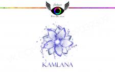 Логотип для продажи синего чая Kamala
