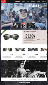 Сайт очков фирмы rayban
