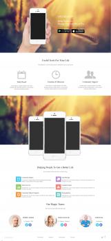 "Верстка landing page ""Phones"""