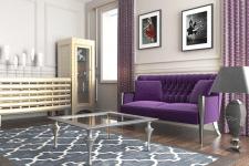 Лиловый диван