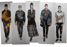 Эскизы моделей с казахстанскими мотивами