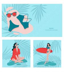 Иллюстрации для рекламы магазина оптики