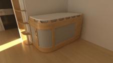 furniture design - transformable table | closet