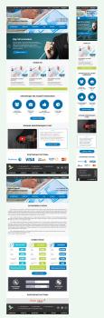 Две страницы сайта бинарных аукционов + адаптив