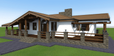 Проект будинку в стилі шалє