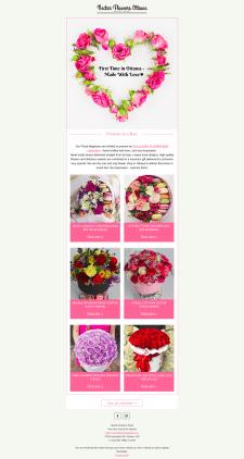 Разработка шаблона письма для магазина цветов