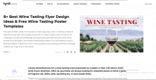 Wine Tasting Flyer Designs. Wine Tasting Post