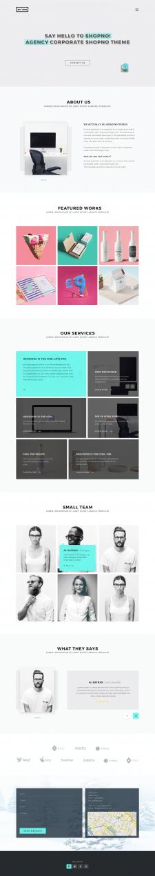 Лендинговый дизайн страницы агентства