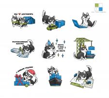 Стикеры для компании ITL