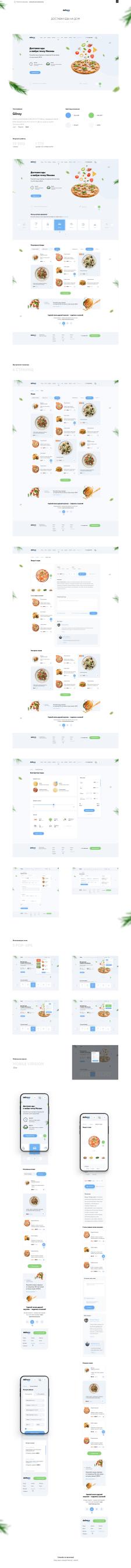 Дизайн интернет-магазина – Доставка еды