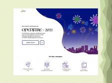 Главный экран Landing page