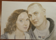 Портрет карандашами А4