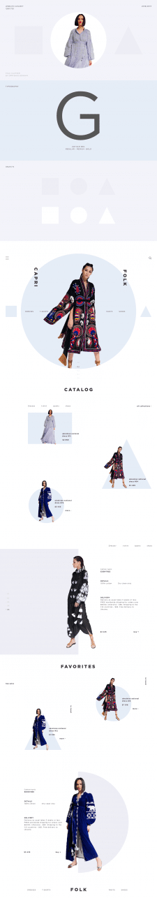 Fashion Shop Website Concept