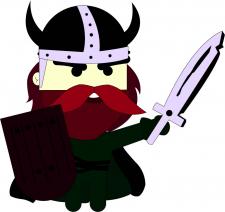 илюстрация викинга