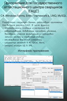 Приложение для ведения реестра ГАЦС
