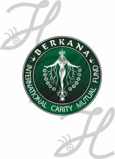 белый логотип ..Беркана.. зеленый