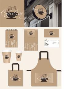 логотип и фирменный стиль для кофейни