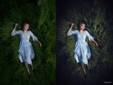 Дівчина в блакитному платті
