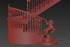 Конь для деревянной лестницы (под ЧПУ)