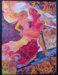 Стихия огня(батик)