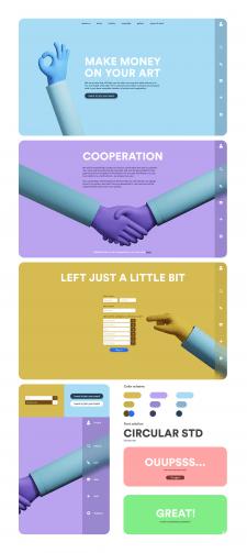 Обмен стоковой графики - Дизайн Веб-Страницы
