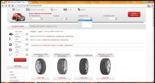 Полностью рабочий компонент подбора дисков и шин