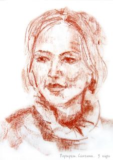 Портрет, сангина.
