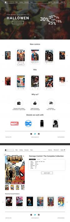 Дизайн сайта для магазина комиксов | Comics
