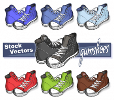 Gumshoes (stock vectors)