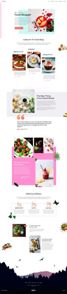 "Cайт (шаблон) ""Food blogger"""