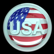 Кнопка с символикой США