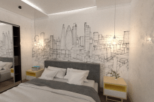 Дизайн-проект інтерьеру квартири 53.1м2 м.Київ