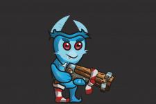 Анимированный персонаж для игры