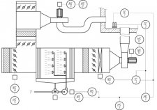 Функционально-технологическая схема калорифера