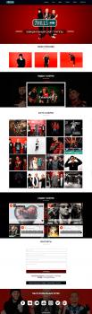Сайт для музыкальной группы 7hills