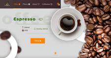 """Первый экран сайта для продажи кофе """"Coffeetee"""""""