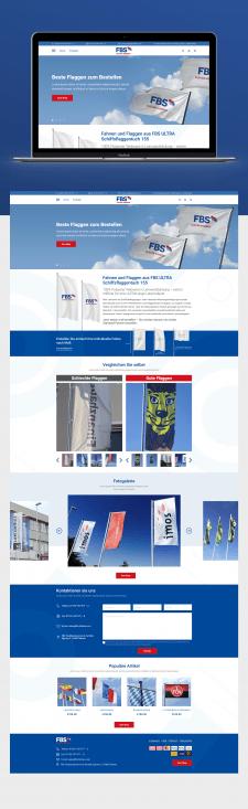 Главная страница ИМ немецкого производителя флагов